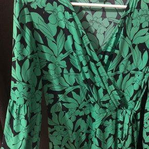 London Times Green Floral Print Dress